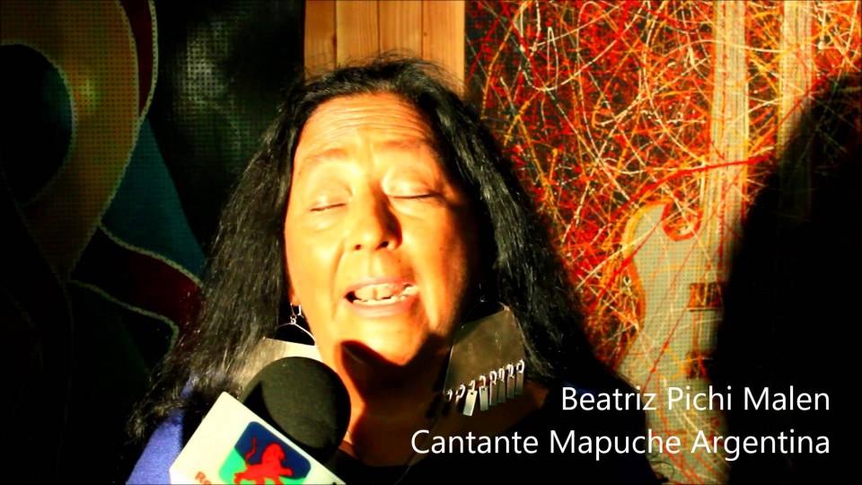 Beatriz Pichi Malen se presentó en el Encuentro de Saberes y Sabores Mapuche 2016
