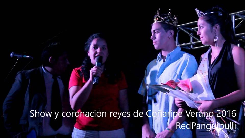 Coñaripe coronó a sus reyes con show verano 2016