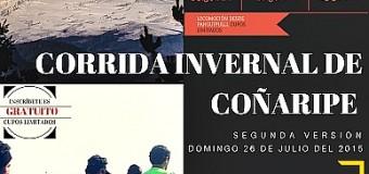 SE VIENE… La segunda versión de la Corrida Familiar de invierno en Coñaripe