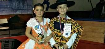 Nayaret Macarena Rocha y Jorge Araúz Anabalón Campeones Regionales de Cueca Infantil