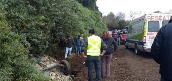 Violento accidente en Lilcoco, ruta a Lanco, dejó una persona lesionada