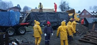 FOTOS | Esta mañana llegaron las viviendas de emergencia para los damnificados