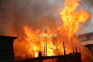 El inicio del Incendio / Agencia RP