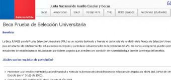 "Junaeb extiende plazo para postular a ""beca PSU"""