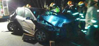 Violento accidente ruta Lanco-Panguipulli | Conductor fue trasladado a Valdivia