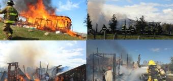 5 personas resultaron afectadas tras rápido incendio en Cari Cui Cui