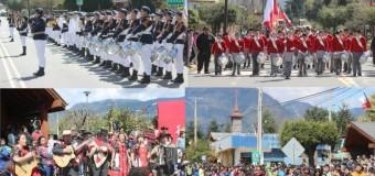 Fotos | Organizaciones folclóricas y banda del liceo PHP Pullinque destacaron en Desfile de Coñaripe