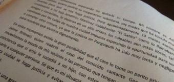 """La emotiva carta con la que la madre de """"Gatito Martinez"""" pide ayuda económica"""