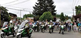 FOTOS | Al menos 120 panguipullenses pedalearon por una vida sana y sin alcohol