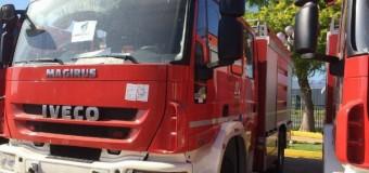 Una joyita!!! Autoridades bomberiles locales reciben en Santiago nuevo carro