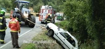 Dos lesionados tras accidente en Huellahue