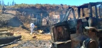 Investigan presunto ataque incendiario a dos máquinas en fundo Lo Suárez de Lanco