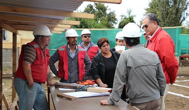 Georgina Cuyul visitó las obras junto al Alcalde Aravena   MuniPangui