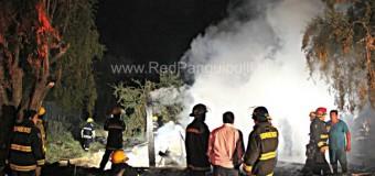 Trágico incendio cobró la vida de una persona en Melefquén