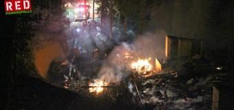 Incendio destruyó por completo casona patronal al interior de Puerto Panguipulli