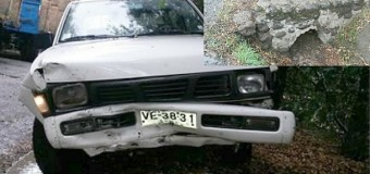Accidente el Huellahue dejó a dos lesionados y daños. Conductor fue derivado a Valdivia