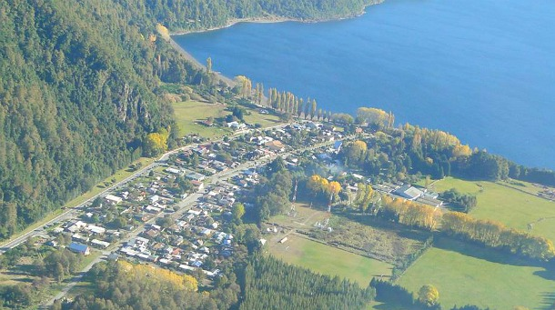 Pueblo de Choshuenco. Vista aérea | Facebook Daniel Melo
