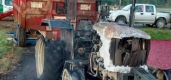 Nuevo ataque incendiario destruyó maquinaria de empresa CranChile