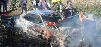 Incendio vehicular en Villa Los Presidentes. No descartan intencionalidad