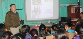 Carabineros dictó charla preventiva a niños de Ñancul