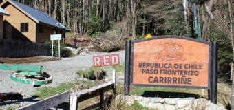Gobernación confirmó cierre del paso Carirriñe a partir de este viernes