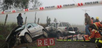 Violenta colisión dejó 3 lesionados en las cercanías de Melefquén