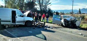 Un muerto y 4 lesionados tras violento accidente en sector Palguín