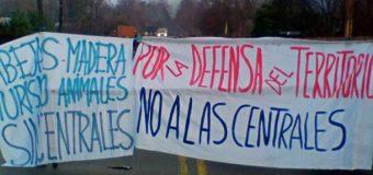 """Opositores a proyecto hidroeléctrico """"tranguil"""" se tomaron la ruta esta mañana"""