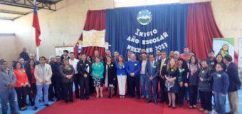 Centro educativo de Neltume fue elegido para lanzar año escolar en la comuna