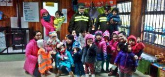 Carabineros y Sala Cuna de Choshuenco llevan adelante campaña preventiva