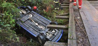Turistas volcaron su vehículo cuando se dirigían a Liquiñe