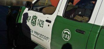 Carabinero de la dotación de Pirehueico resultó herido en accidente