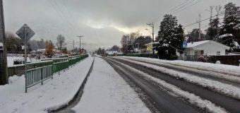 Nieve acumulada alcanza los 15 cm en zonas interiores