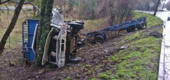 Chofer permaneció atrapado más de una hora luego de accidente en sector Quilaco