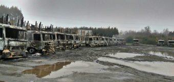 Encapuchados atacan empresa forestal en Mariquina. Habría 35 camiones afectados