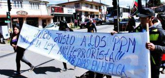 Desde las calles de Panguipulli, solidarizan con Presos Políticos Mapuche en Huelga de Hambre