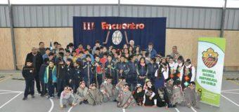 Alumnos de 4 escuelas se sumaron al tercer encentro de palín en Melefquén