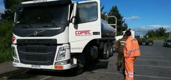 Asaltan y roban 15 mil litros de combustible a camión Copec en Mariquina. Vehículo fue abandonado en Los Lagos