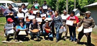 Usuarios del PDTI en Pucura finalizan capacitación en artesanía en maderas