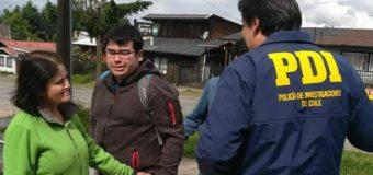 Joven universitario desaparecido el lunes fue hallado con vida en la Araucanía