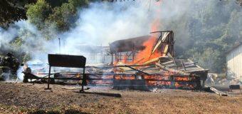 Incendio en sector de Coñaripe deja al menos 4 damnificados