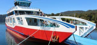 """Barcaza Puerto Fuy ya inició """"marcha Blanca. Conozca horarios y tarifas"""