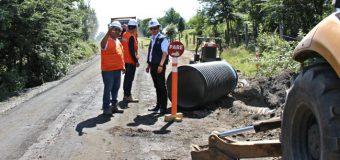 Mejoramiento de la Ruta Coñaripe-Los Cajones presenta un 40% de avance físico