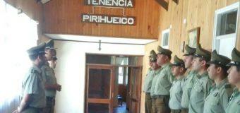 Carabineros realiza cambio de mando en Tenencias de Liquiñe y Pirehueico