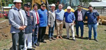 """Ponen """"primera piedra"""" a nuevo Cuartel de Bomberos en Coñaripe"""