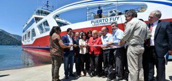 Jefa de Estado inaugura nuevo Transbordador Puerto Fuy