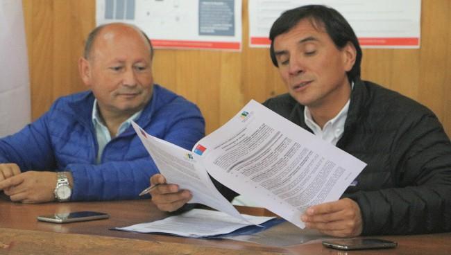 Alcalde Rodrigo Valdivia y exintendente Ricardo Millán