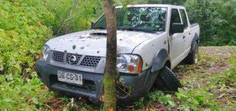 Conductor detenido por causar accidente vehicular ebrio y sin licencia en Pullinque