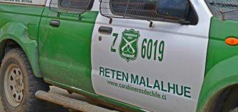 Hombre muere tras prenderse fuego a sí mismo en sector rural de Malalhue