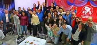 Columna del Partido Socialista de Panguipulli en el día del Trabajador